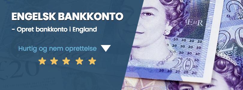 Engelsk bankkonto til lav pris