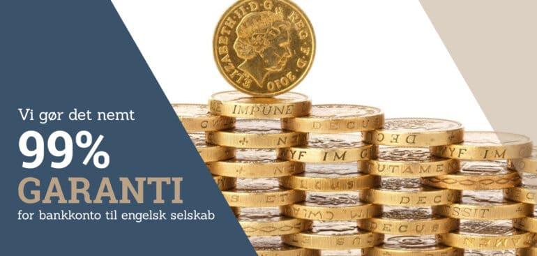 Få 99% garanti for bankkonto