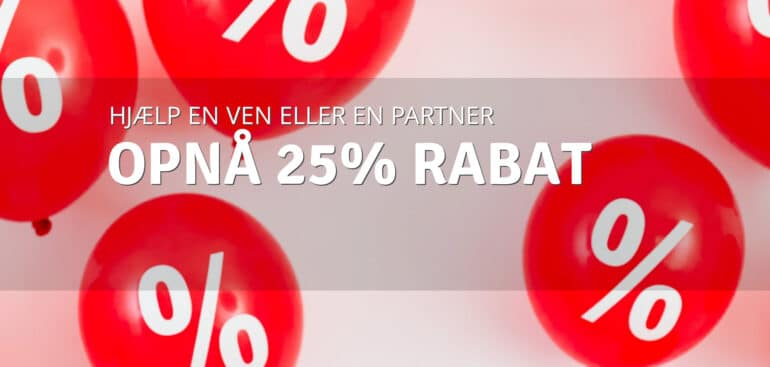 Rabat 25%