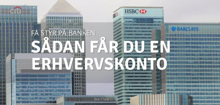 Erhvervskonto | Bankkonto